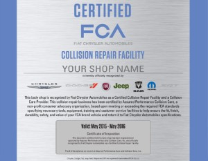 A sample FCA certification marker from Assured Performance. (Provided by Assured Performance)