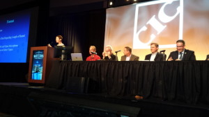 A Collision Industry Conference insurer-repairer relation panel July 21, 2015, discussed ETAs of repairs to customers. (John Huetter/Repairer Driven News)