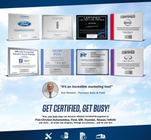 Assured Performance's certification applies to a network of mainstream automakers. You're certified for one, you're certified for all, as this brochure cover indicates. (Provided by Assured Performance)