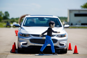 General Motors will offer pedestrian braking on the 2016 Chevrolet Malibu and Cadillac CT6. (Jeffrey Sauger for General Motors/© General Motors)