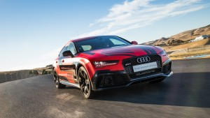 "Audi's self-driving RS 7 ""Robby"" is shown at the Sonoma Raceway. (Provided by Audi)"