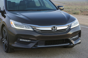 The 2016 model refresh of the mega-selling Honda Accord, the Touring sedan model of which is shown here, will have an aluminum hood. (Provided by Honda)