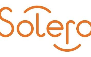 The Solera logo. (Provided by Solera via PRNewsFoto)
