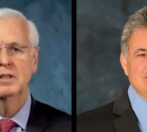 Louisiana Insurance Commissioner Jim Donelon, left, is running against Matt Parker, owner of Parker Auto Body, in the Republican primary. (Provided by Louisiana Insurance Department, Parker campaign)