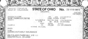 American Family sued in 2013 alleging Three-C Body Shops had unfairly retained this Ford Mustang -- even thought the insurer had already been given the car in 2011. (Provided by Franklin County, Ohio, Clerk of Courts' Office.)