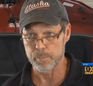 Miles Paint & Body Shop owner Tim Elkins is seen in this screenshot of a broadcast which made WAFB one of the latest networks calling attention to non-OEM parts. (Screenshot from WAFB video on www.wafb.com)