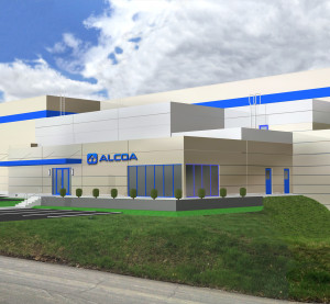 This rendering shows a new addition to the Alcoa Technical Center in Pittsburgh. (Provided by Alcoa)