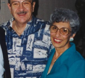 Rosie Loftus, right, wife of inaugural Society of Collision Repair Specialists Executive Director John Loftus, left, has died. She was 83. (Provided by Jeff Hendler)