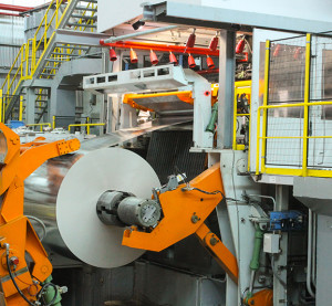 The Tandem Cold Mill processes automotive aluminum. Alcoa said the cold mill was one of the major aspects of a $300 million Tennessee expansion. (Provided by Alcoa)