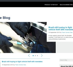 The IHS Automotive Blog is shown in this screenshot. (Screenshot from blog.ihs.com)
