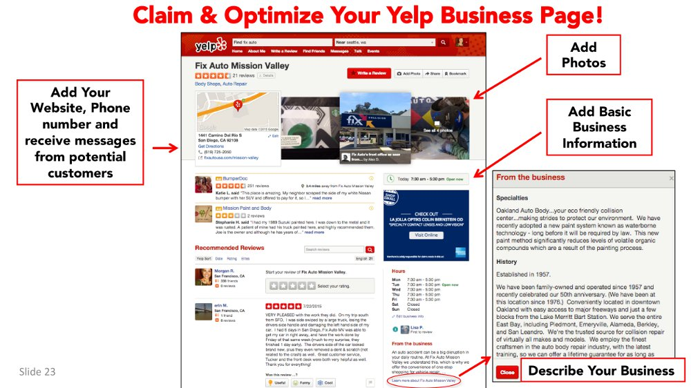 Why a body shop should care about its Yelp presence, and how