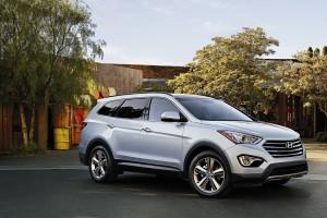 A 2015 Hyundai Santa Fe is shown. (Provided by Hyundai)