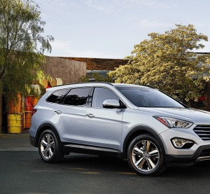 A 2015 Hyundai Santa Fe is shown. (Provided by Hyundai)