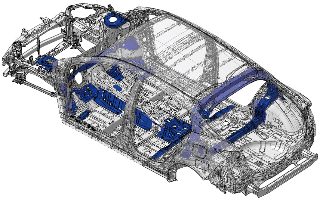 "On Tuesday, the automaker revealed diagrams of the 2016 Prius, initially unveiled in a Sept. 8 Las Vegas event streamed live on YouTube. (For a lighter take on the party, check out this column.) However, it seems that the red (and possibly also the blue) Prius sections depicted are the ""high-tensile strength steel"" referenced in Toyota's Tuesday news release. (Provided by Toyota)"
