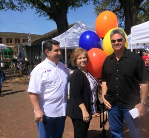 Louisiana insurance Commissioner candidate Matt Parker poses at the Hammond Blues and BBQ Festival. (Provided by Parker campaign)