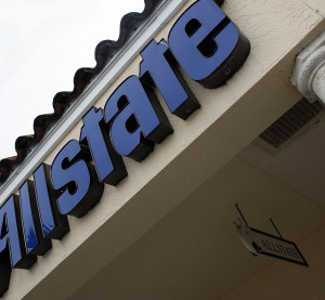 An Allstate insurance company sign is seen outside one of its stores Jan. 17, 2008. (Joe Raedle/Getty Images News/Thinkstock file)