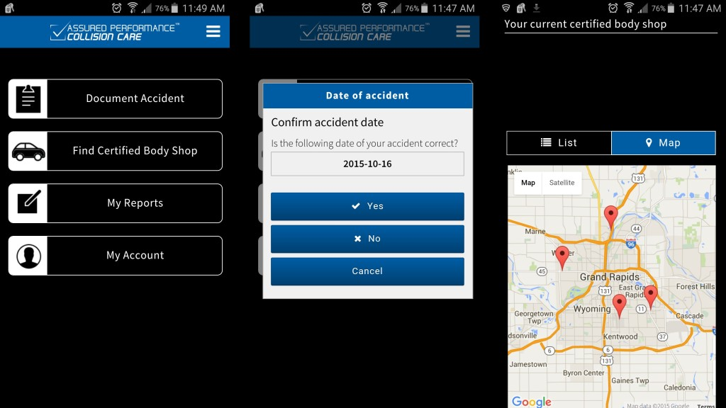 These screenshots display the Assured Performance app officially launched this month. (Screenshots of Assured Performance app)