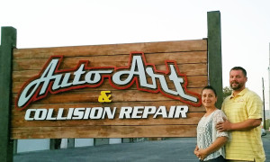 After meeting with Linda Johnson of a Yakima, Wash.-based Small Business Development Center branch, Auto Art & Collision Repair owners Irma and Art Philp learned to refine their applications to satisfy lenders. (Provided by Auto Art & Collision Repair, Washington Small Business Development Center, Washington State University)