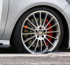 "Counterfeit Mercedes wheels subjected to a pothole ""disintegrated"" at 30.1 mph (50 kph), a Mercedes-General Motors test found, the Australian Genuine Is Best campaign said in a series of news releases Monday. (Provided by Genuine Is Best)"