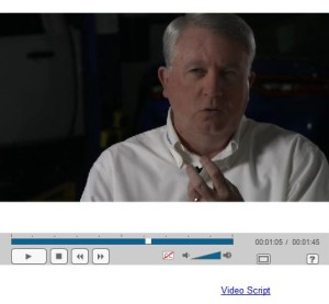 """Knowledge is an asset which must be managed, """"just like a welder, equipment,"""" former I-CAR segment development senior director Jeff Peevy says in the series of video lessons which make up the company's Production Management 101 course. (Screenshot from www.icar.com)"""