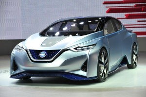 """Nissan's electric IDS Concept vehicle -- which the company calls """"a promise"""" -- has a """"full-carbon-fiber body,"""" hollow A-pillars for better visibility, and steers itself, the OEM announced Tuesday in a news release. (Provided by Nissan)"""