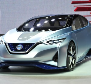 "Nissan's electric IDS Concept vehicle -- which the company calls ""a promise"" -- has a ""full-carbon-fiber body,"" hollow A-pillars for better visibility, and steers itself, the OEM announced Tuesday in a news release. (Provided by Nissan)"