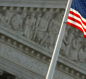 The U.S. flag flies in front of the West Pediment of the Supreme Court building on Aug. 7, 2009. (Chip Somodevilla/Getty Images News/Thinkstock file)