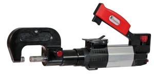 The XPress 800 pneumatic-hydraulic universal rivet gun, provided by Reliable Automotive Equipment, was already sanctioned by Tesla and Mercedes for work on their vehicles. Now, it's one of the first -- if not the first -- rivet guns approved for the mixed-materials Caddy. (Provided by Reliable Automotive Equipment)