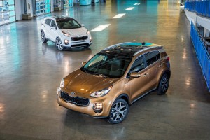 The SX Turbo two-wheel- and all-wheel-drive trims of the 2017 Kia Sportage are shown. (Provided by Kia)