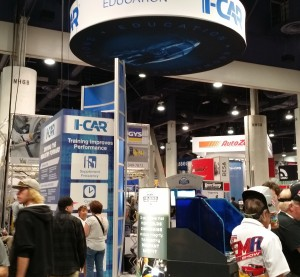 The I-CAR booth at SEMA 2015. (John Huetter/Repairer Driven News)