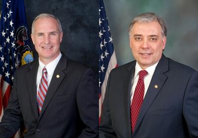 Pennsylvania state Reps. Tom Murt, left, and Mike Tobash, both Republicans. (Provided by Pennsylvania Legislature)