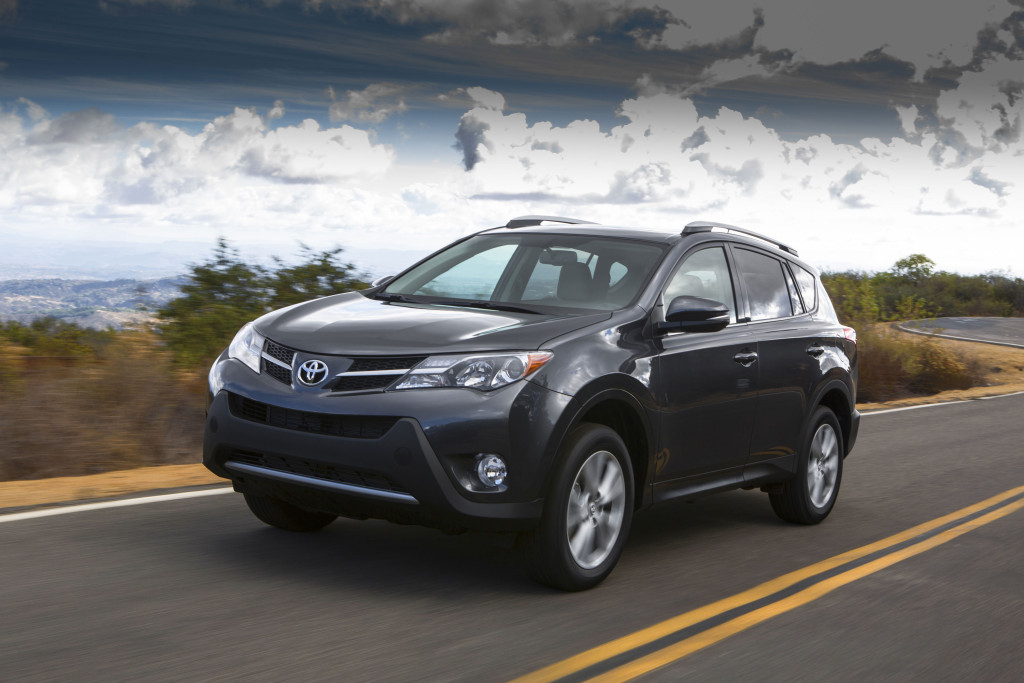 A 2013-15 Toyota RAV4 is shown (Provided by Toyota)