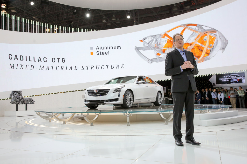 "Cadillac President Johan de Nysschen promotes Cadillac CT6 April 1 at the New York International Auto Show (Mike Appleton for Cadillac/""© General Motors.)"