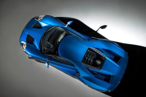 Ford will use a variant of the Gorilla Glass found on smartphone screens to cut 12 pounds from the new GT supercar, the company announced Tuesday. (Provided by Ford)