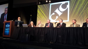 The CIC Education and Training Committee at the NACE-week Collision Industry Conference. (John Huetter/Repairer Driven News)