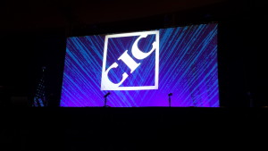 The CIC logo is shown during the Collision Industry Conference/NACE week in July 2015. (John Huetter/Repairer Driven News)