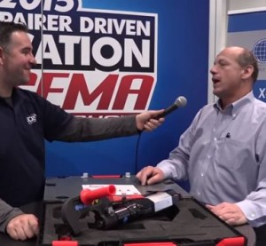The future is here for advanced joining techniques, Reliable Automotive Equipment President Dave Gruskos said in a new SCRS-Collision Hub SEMA video, a screenshot of which is shown here. (Screenshot of Collision Hub video on YouTube)