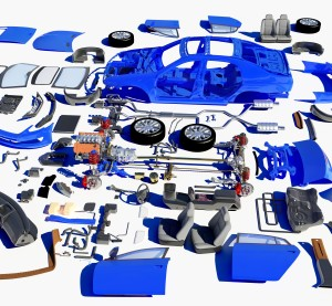 Auto parts are shown in this graphic. (1971yes/iStock/Thinkstock)