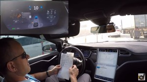 Drag Times' Brooks Weisblat famously reported receiving a speed warning from the Florida Highway Patrol when his Model S P85D in Autopilot mode did 75 mph in a 60 mph area. A screenshot from his report is shown here. (Screenshot of DragTimes YouTube video)