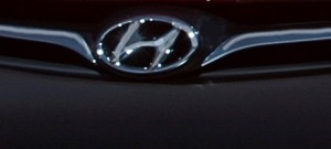 Part of the grille of a 2014 Genesis Coupe is shown. (Provided by Hyundai)