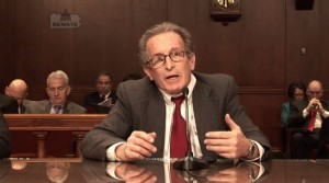 Auto Claims Solutions independent appraiser Charles Barrone is shown here in a still from video from  Pennsylvania Banking and Insurance Committee Chairman Don White. (Screenshot from www.senatordonwhite.com)