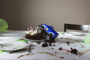 Always check for frame damage after a collision with a birthday cake. (moodboard/moodboard/Thinkstock)