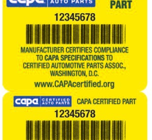 An example of the CAPA seal is shown. (Provided by CAPA)