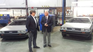 Featured image: Rep. Gene Green, D-Texas, and DeLorean Motor Company CEO Stephen Wynne are photographed during Greene's Jan. 27 visit to DMC. (Provided by Rep. Gene Green's office)