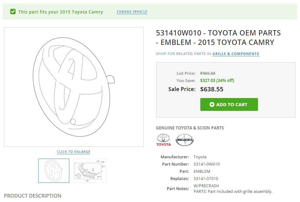 2015 camry emblem technology package
