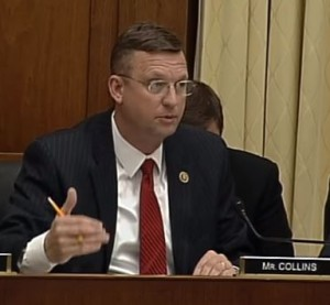U.S. Rep. Doug Collins, R-Ga., seen here in a screenshot from subcommittee video, speaks Feb. 2, 2016, during the Courts, Intellectual Property, and the Internet Subcommittee of the House Judiciary Committee hearing on the PARTS Act. (Screenshot from House subcommittee video on YouTube)