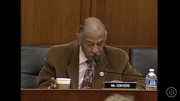 U.S. Rep. John Conyers, D-Mich., seen here in a screenshot from subcommittee video, speaks Feb. 2, 2016, during the Courts, Intellectual Property, and the Internet Subcommittee of the House Judiciary Committee hearing on the PARTS Act. (Screenshot from House subcommittee video on YouTube)
