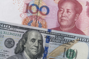 U.S. and Chinese currency are shown. (zhz_akey/iStock/Thinkstock)