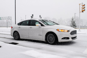 Ford has tested self-driving cars in the snow at Mcity. (Provided by Ford)