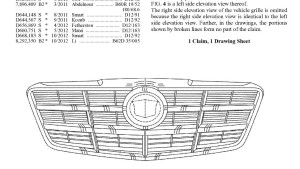 Part of a General Motors 2016 design patent for a grille is shown. Gee, do you think it's for a Cadillac? (Provided by U.S. Patent and Trademark Office)